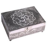 Tarot ask eller smyckeskrin OHM Silverfärgad