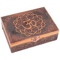Tarot ask eller smyckeskrin OHM Kopparfärgad