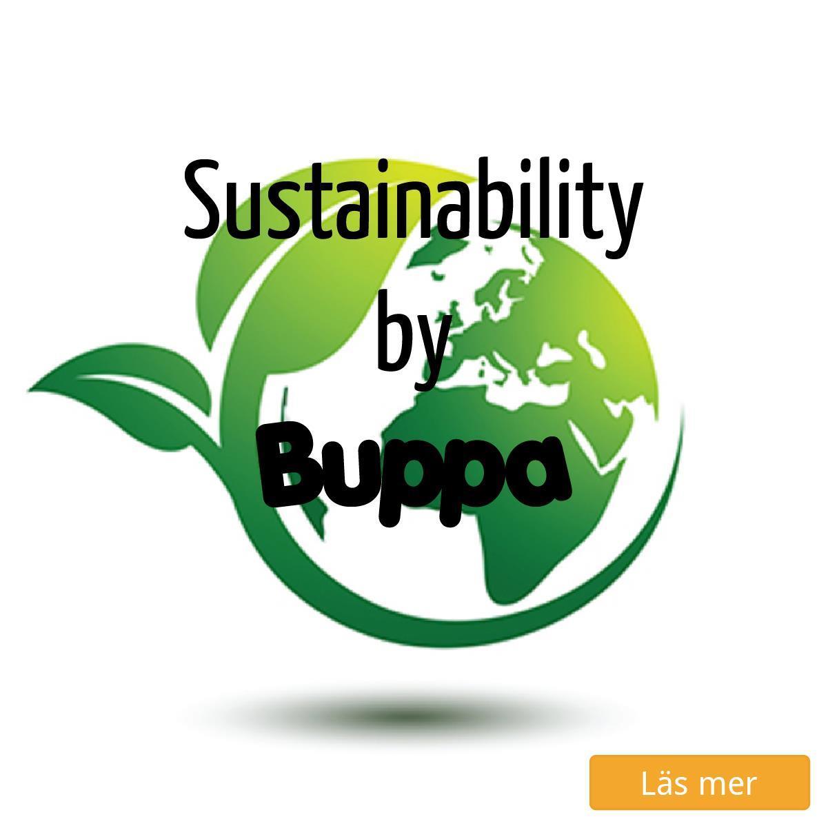 Hur Buppa arbetar med hållbarhet