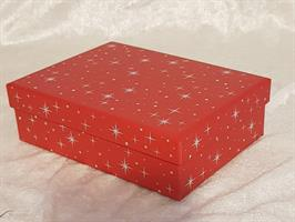 Röd kartong 17x12,5x5cm
