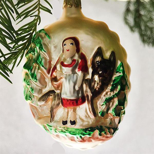 Rødhette og ulven, julekule