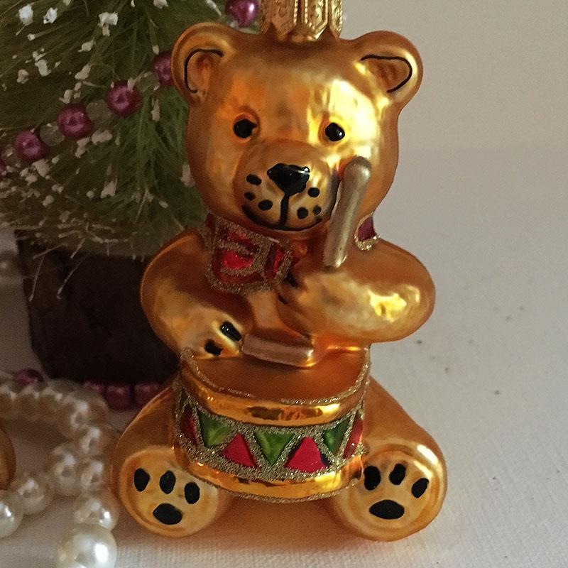 Teddybjørn med tromme
