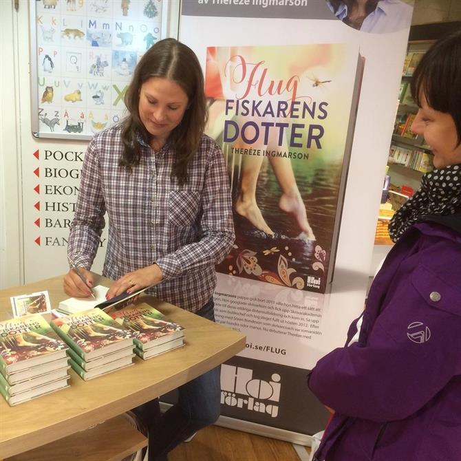 Signering Akademibokhandeln i Varberg