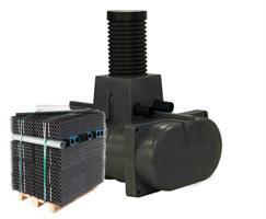 Rotomon 2/1000 Lågbyggd Slamavskiljare + Biomodulerpaket BDT