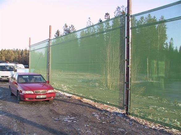 Vindskydd - hindrar spridning av skräp vid Borås Energi återvinning