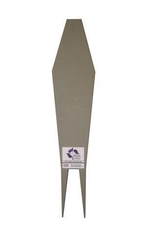 Diamantformat stålmål L:66 cm