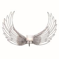 Ljuslykta vingar i hamrad plåt 45cm