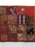 Kuddfodral indiska mönster rostbrun