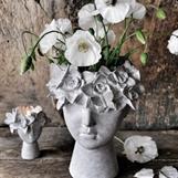 Madame floral kruka samt ljuslykta