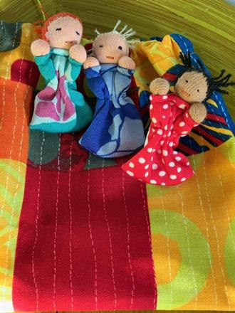 All bags are different, always 3 dolls but with a little different look!