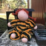"""LARGE HUG DOLL WITH """"PIPPI LONGSTOCKING"""" RED BRAIDS"""