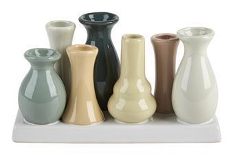 7 vaser på rad