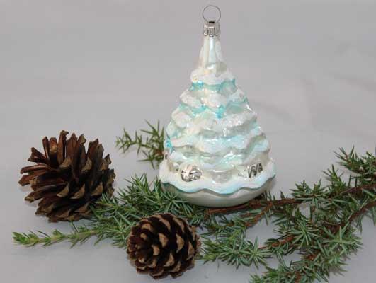 Juletre, hvitt/isblått