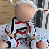 Large hug doll with white braids - SEK 350 !