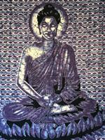 Buddha dubbel blå-lila