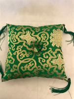 Klangskålskudde grön med tofs