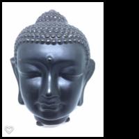 Buddha huvud svart 13 cm