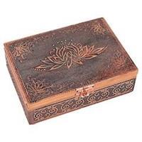 Tarot ask eller smyckeskrin Lotus Kopparfärgad