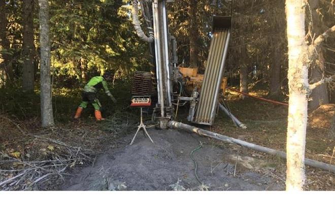 Borrning för kommunal vattentäkt i Kilen, Ragunda kommun