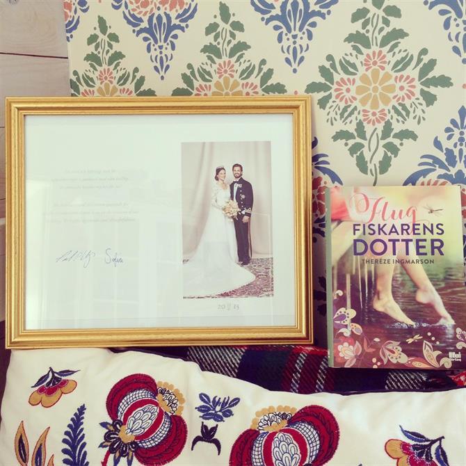 Tackkort från Prins Carl Philip och Prinsessan Sofia