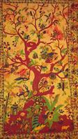 Livets träd enkel gul-brun