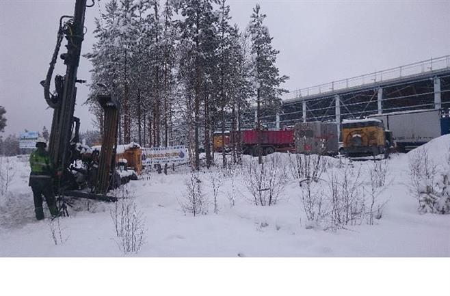 Bergvärme till Hallströms verkstäder i Åskorset utanför Östersund, 2017