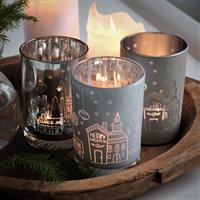 Majas God Jul lykta i vitt