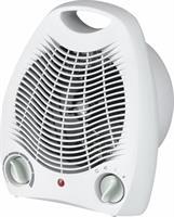 Värmefläkt, 2000W, Vit, 215x255x135 mm