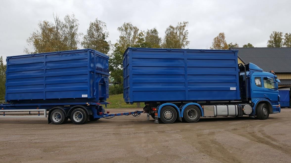Öppningsbar container med plåttak