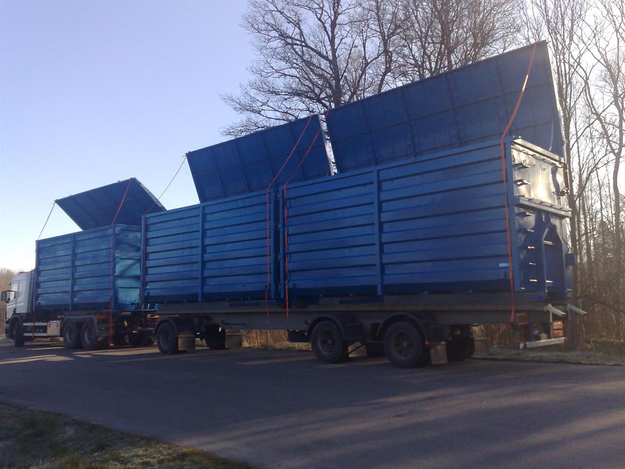 Fliscontainer med öppningsbart tak