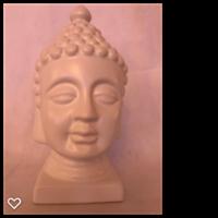 Buddha huvud vitt 30 cm