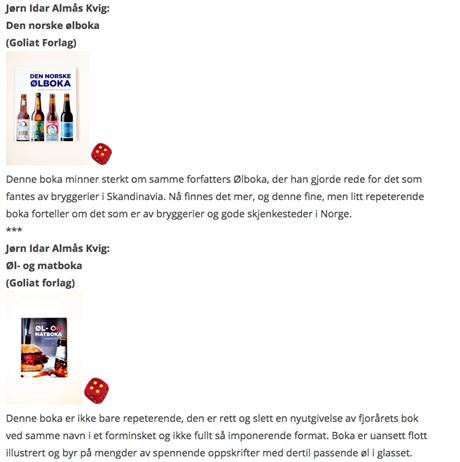 Anmeldelse av Den norske ølboka + Øl- og matboka