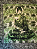 Buddha dubbel grön