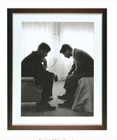 Tavla John & Robert Kennedy i svart ram