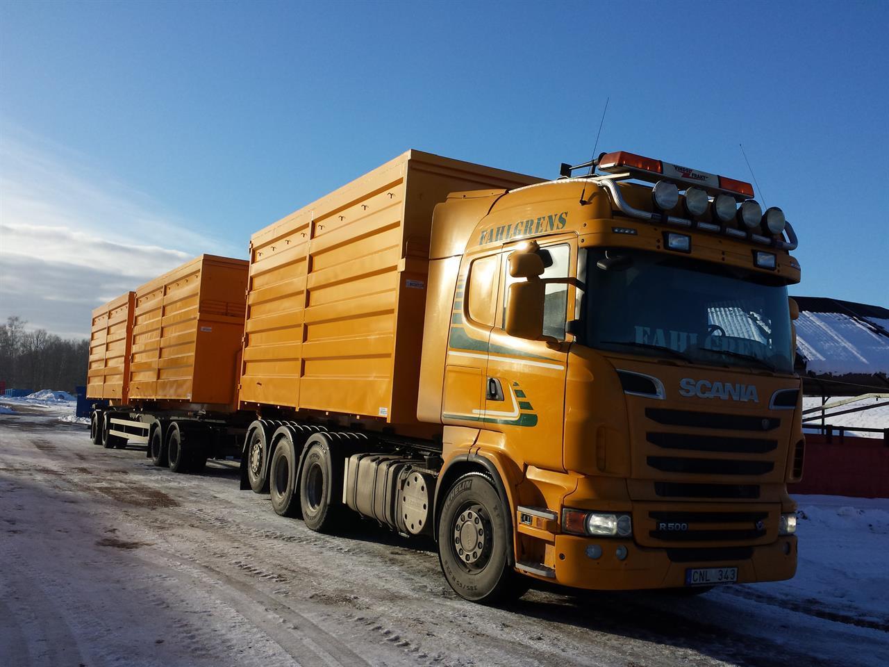 Fliscontainer i Domex 700, 40 kbm