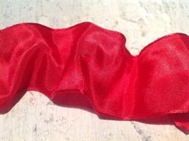 Rött band 2,5 cm med ståltråd