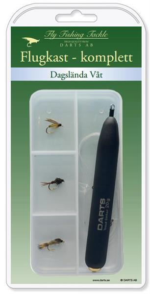 Fluedupp komplett: Døgnflue våt synkende