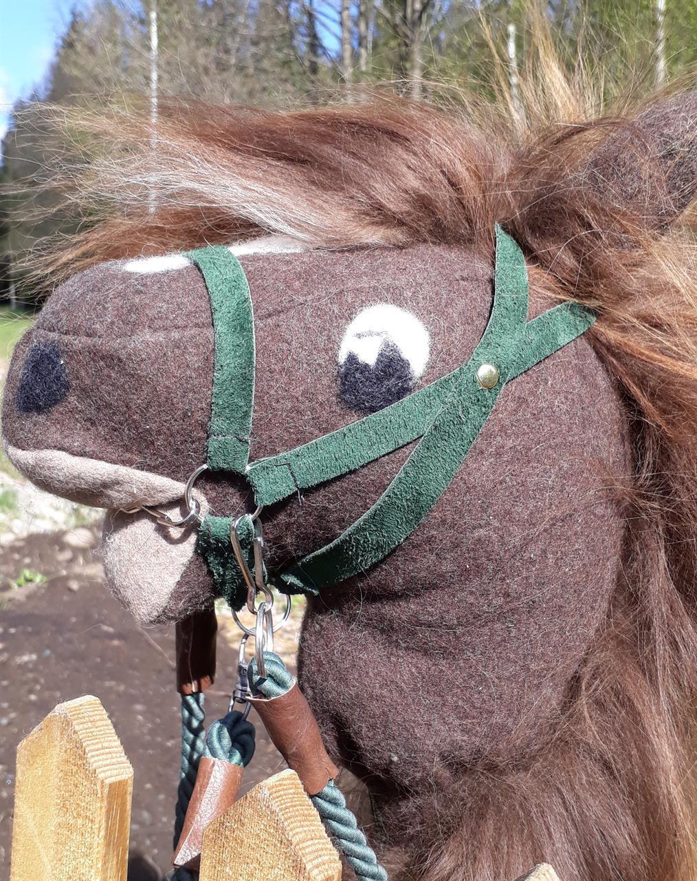 Grimma grön i läder till häst
