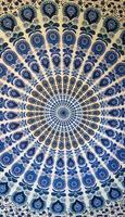 Mandala Dubbel vit blå svart