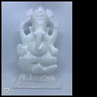 Vit sandsten Ganesh 16,5 x 10,5