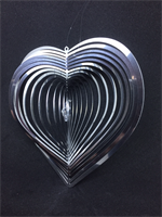 Spiral Hjärta med kristallhjärta