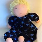 Large hug Waldorf doll with short blond hair - SEK 300