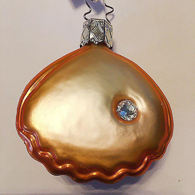 Musling med Swarovski-perle