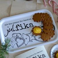Bricka från Erika Tubbin swedish julfika