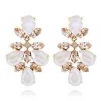 Selene Earrings / Ivory Cream + Silk