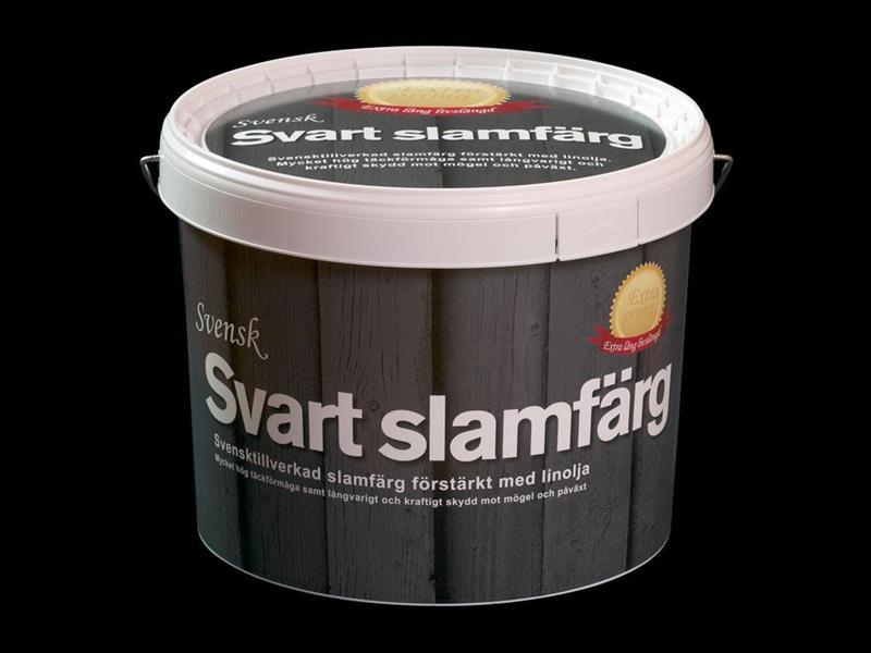SVENSK SVART SLAMFÄRG EXTRA PRIMA 10 LIT
