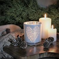 Majas julens hjärta lykta i vitt