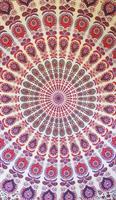 Mandala Dubbel vit rosa lila