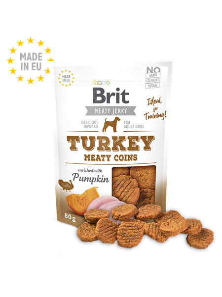 Brit Jerky Turkey Meaty Coins 80g