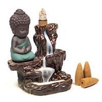 Backflow Rökelsebrännare Liten Buddha